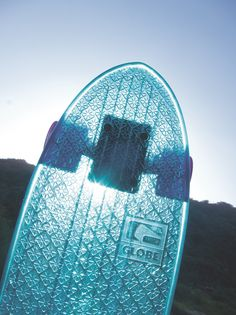 Details we like / Skateboard / Transparent / Blue / Pattern / Globe / at MY EYES OPEN Product Design #productdesign