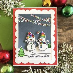 Sunny Studio Stamps: Feeling Frosty Scenic Route Customer Card by Dana Kirby Christmas Cards Handmade Kids, Christmas Tag, Christmas Ideas, Xmas, Poinsettia Cards, Sunnies Studios, Snowman Cards, Embossed Cards, Winter Cards