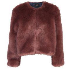 Rose Irina Jacket found on Polyvore featuring outerwear, jackets, coats, coats & jackets, outer, stine goya, short-sleeve jackets and red jacket