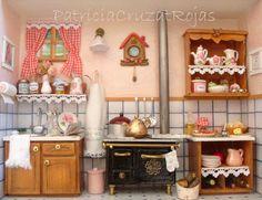 Cuadro Cocina con Miniaturas hecha a pedido.