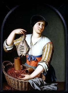 Willem van Mieris, The Fishwife, 1725.    Partlet