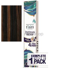 "Wed Aug 10, 2016 - #6: Rain Indian Remy Jerry Curl 10/10/12/14"" - Color P1B/30 - Indian Remi Weaving - 4 pcs + closure"