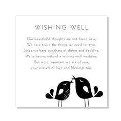 Wishing well wording short google search wedding ideas for Wedding registry house fund