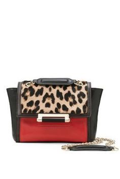 DVF - 440 Mini Leopard Haircalf Crossbody Bag