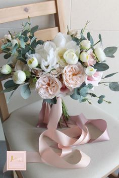 Bridal Bouquet in pretty blush and white Rustic Bridal Bouquets, Silk Bridal Bouquet, Silk Wedding Bouquets, Hand Bouquet, Bride Bouquets, Bridal Flowers, Flower Bouquet Wedding, Floral Bouquets, Silk Flowers