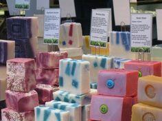 Farmers' market soap display