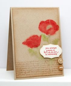 Watercolor technique using the Pretty Poppies stamps