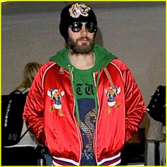 Jared Leto - Rocks a $2000 Gucci Collaboration Jacket