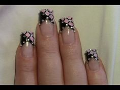 Rosa Glitter Strass Party Nail Art Design Tutorial / Nageldesign selber machen / Nägel lackieren - YouTube