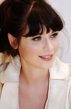 Zooey Dechanel . lovely clean makeup but 50's twist