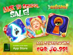 Back to School Sale!  All Elfishki iPad Storybooks - for $0.99!  For 3 days only!