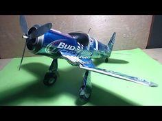 Avión hecho de latas tutorial (Airplane made with aluminum cans tutorial) - YouTube