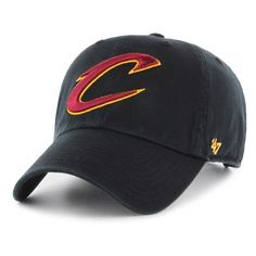 Women's '47 Clean Up Cleveland Cavaliers Baseball Cap ($25) ❤ liked on Polyvore featuring accessories, hats, black, 47 brand hats, baseball cap, cleveland cavaliers hats, curved brim hats and '47 brand