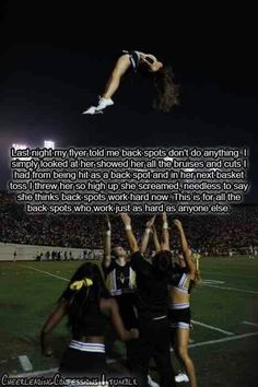 BACKSPOTS ARE IMPORTANT. i've based before, and backspots have harder work. more weight to hold and more responsibility; we hold the head and neck!