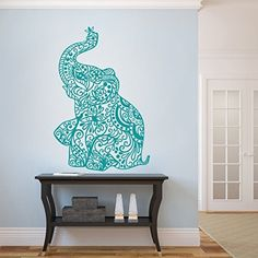 GECKOO Elephant Wall Stickers Yoga Vinyl Boho Wall Decal Home Bedding Decor Nursery Wall Mural(Medium,Teal) GECKOO http://www.amazon.com/dp/B016LZHY3S/ref=cm_sw_r_pi_dp_FVVRwb14H2X9T