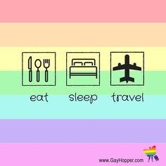#Eat #Sleep Travel  @bryankaotw @linisho_fdez @dyronhunter @andrewskok @biggsmart @carloxito  #gaytravel #gay #cruise #travel #lgbt #gaytourism #wanderlust #gaybarcelona #gaypride #sand #beach #sky #gayquotes  www.facebook.com/gayhoppertravel www.twitter.com/gayhopper_com www.GayHopper.com