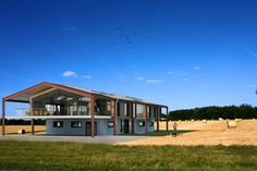 Photo of modern agricultural barn conversion architecture in Contemporary Barn, Contemporary House Plans, Steel Building Homes, Building A House, Barn Conversion Exterior, Barn Conversions, Chicken Barn, Steel Barns, Agricultural Buildings