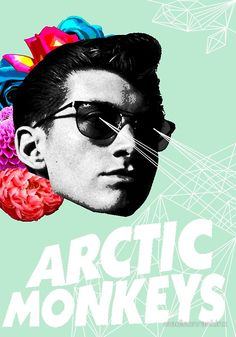 Alex Turner, Arctic Monkeys, Floral Geometric Poster/Print Red Bubble By: Madison Rankin