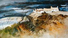The Farm, Watercolor by John Blockley.