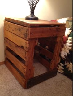 Pallet End Table Dog Crate