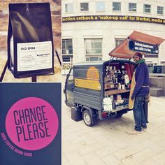 Wake up and smell the coffee Canary Wharf!  Have you spotted this cute coffee cart outside the tube station? It's part of a new @bigissueuk initiative to help London's homeless get back on their feet. Instead of selling magazines a number of newly trained baristas (such as Jatinder pictured here) are now serving delicious @oldspikeroast coffee at 3 locations across London. Now that's a #wakeupcall that we all can benefit from!  #socialenterprise #greatinitiative #helpmehelpyou #lovelondon…