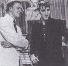 Wink Martindale and Elvis way back when. Wink hosted Dance Party for years.