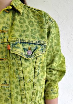 The Levi's Leopard Print Lasered Dyed Denim Jacket by rerunvintage