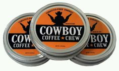 Chewing Tobacco Alternative GO COWBOY COFFEE CHEW Energy Dip Snuff Snus Grinds