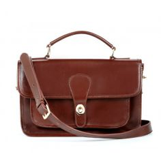 Britt messenger bag - Dark Brown