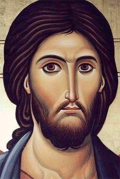 Byzantine Depiction of Jesus Christ Religious Images, Religious Icons, Religious Art, Byzantine Icons, Byzantine Art, Christ Pantocrator, Jesus Christus, Jesus Face, Arte Obscura