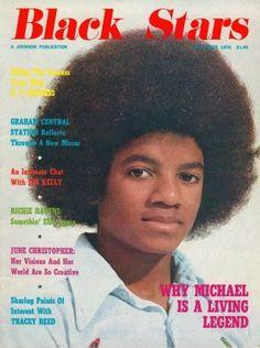 "Michael Jackson on the cover of ""Black Stars"" Magazine, 1976."