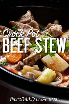 A great easy one pot meal! Check out this delicous Crock Pot Beef Stew Recipe