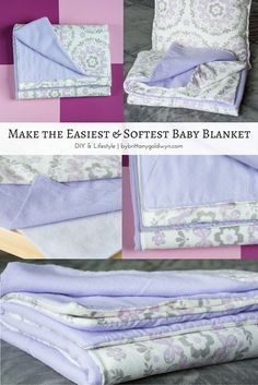 This super easy and soft baby blanket would make a great gift for anyone with a new baby. Definitely need to make this.