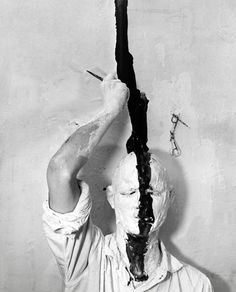 Günter Brus (b.1938, Austria) is a controversial Austrian painter, performance artist, graphic artist and writer - 'Self Painting', 1965.