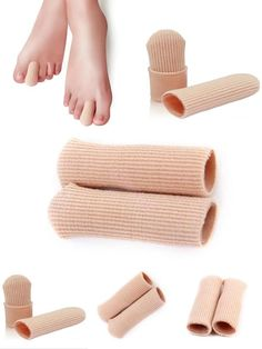 [Visit to Buy] 1 Pcs New Durable Gel Cap Finger Toe Blister Callouses Relief Tube Protector Small Foot Care Health Toe health #Advertisement