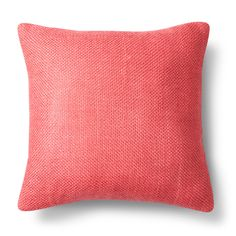 "Coral (Pink) Pebble Square Throw Pillow (18""x18"") - Threshold"
