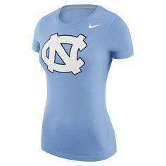70230e370 Women's Nike Carolina Blue North Carolina Tar Heels Logo Scoop Neck T-Shirt