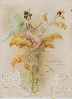 SOLD – Fairbanks Fairy Floral Calendar, 1898