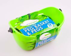 EcoForce Peg Basket and 24 Pegs are design and made in the UK from 93% recycled plastic and are also 100% recyclable. The EcoForce Peg Basket can hold up to 72 Ecoforce Recycled Clothes Pegs.