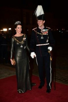 Queen Margrethe and Prince Henrik held traditional New Year's reception and dinner for parliament member's at Amalienborg Palace on January 1, 2017, in Copenhagen. Crown Prince Frederik, Crown Princess Mary, Prince Joachim and Princess Marie attended the Traditional New Year's dinner hosted by Queen Margrethe of Denmark.