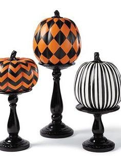 The Designer Pumpkins are a fun and festive way to show your halloween spirit this fall.