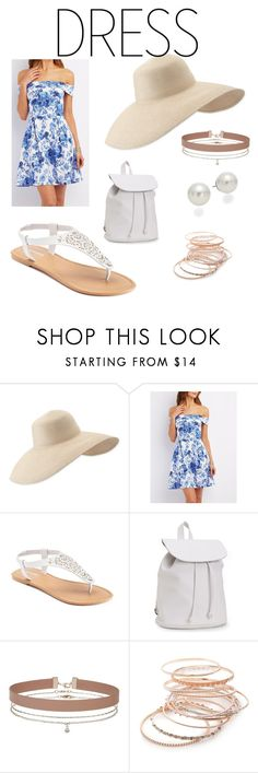 """""""Spring is here ❤"""" by tedegirl ❤ liked on Polyvore featuring Eric Javits, Charlotte Russe, SONOMA Goods for Life, Aéropostale, Miss Selfridge, Red Camel, AK Anne Klein and offshoulderdress"""