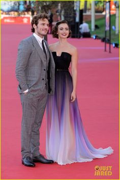 Lily Collins & Sam Claflin Premiere 'Love, Rosie' In Rome | lily collins sam claflin love rosie rome festival 05 - Photo