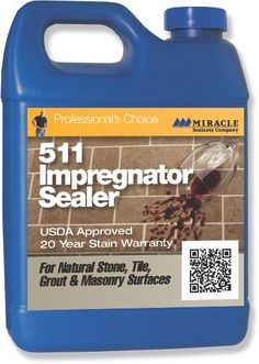 Sealers - 511 Impregnator :: 511 Impregnator is not a surface coating & will not alter the natural look. All surfaces treated are harder & less slippery.  Good for Saltillo Tile on Patio