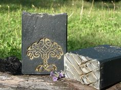 Lavandula soap wiith activated charcoal