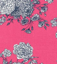 Keepsake Calico™ Cotton Fabric-Paisley Pink Floral