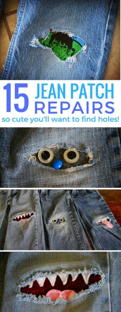 At last! A way to fix the kid's jeans so they'll actually want to wear them! These DIY jean patch ideas are genius!
