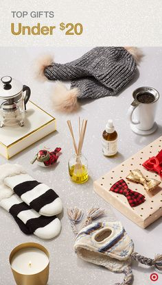 Stumped for Christmas gift ideas that don't break the bank? Perfectly priced for anyone on your list, find gifts under $20 your recipients will love. From cozy Who What Wear pom hats, warm graphic mittens, scented reed diffusers and candles to holiday ornaments, coffeemakers and mugs, you'll be checking off that list in no time. Oh… and don't forget something special for Fido—check out the cutest puppy and kitty clothing, including hats and bow-ties for dogs.