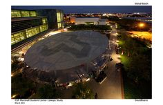 Canopy rendering at night by USF Marshall Student Center