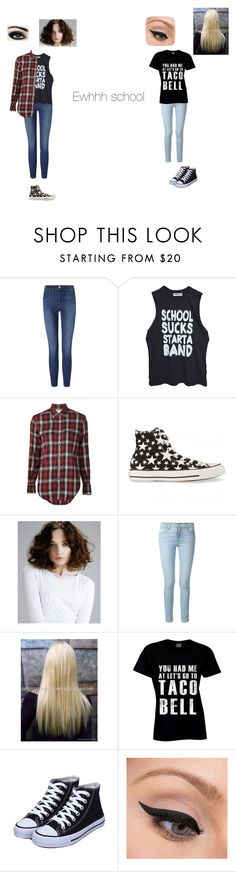 """""""Alyssa is my best friend ever"""" by vermont-loves-kitties ❤ liked on Polyvore featuring Frame Denim, High Heels Suicide, Yves Saint Laurent, Converse and LORAC"""